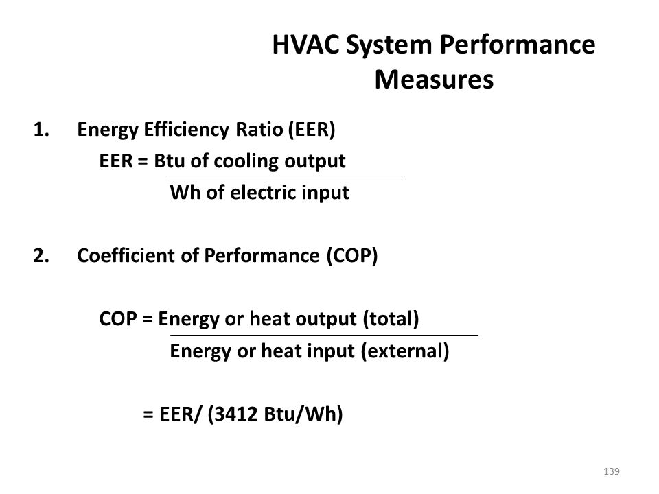 HVAC System Performance Measures