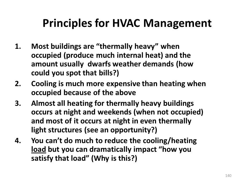 Principles for HVAC Management