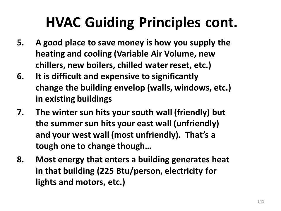 HVAC Guiding Principles cont.