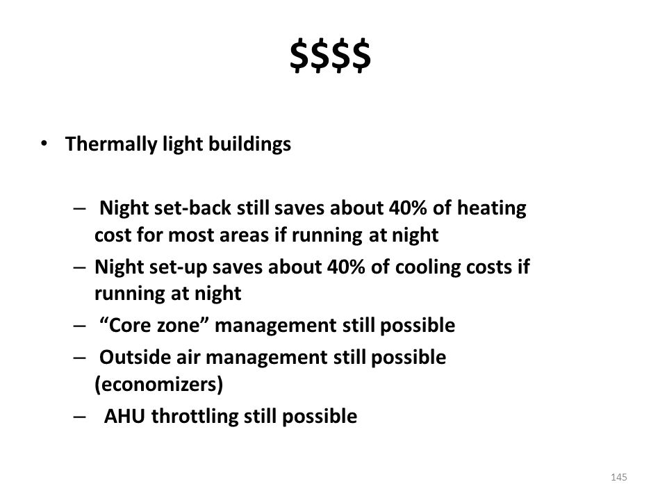 $$$$ Thermally light buildings