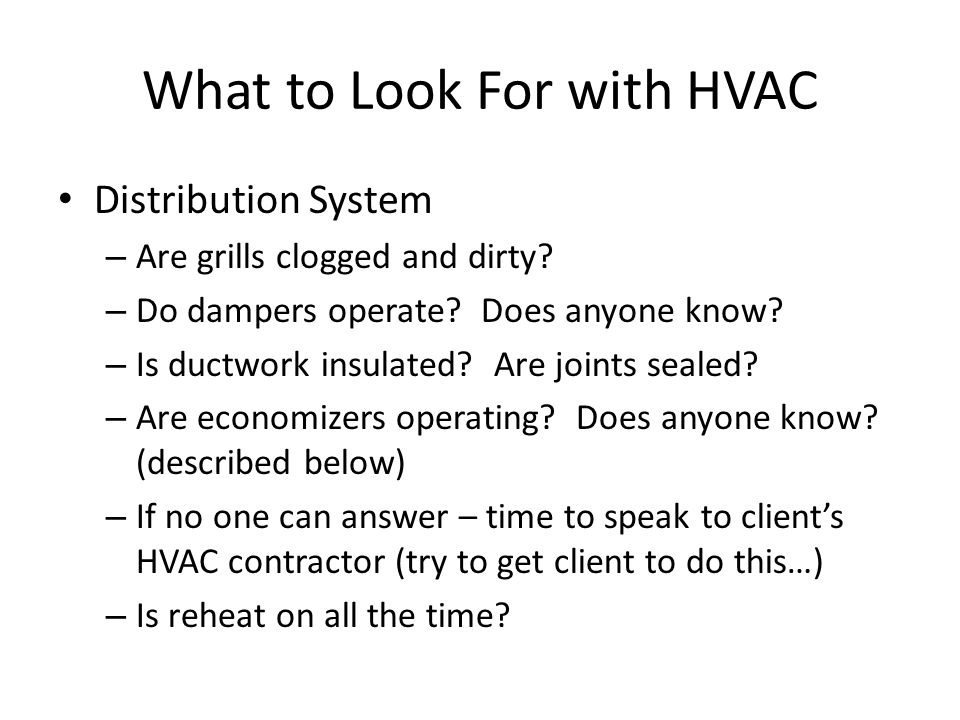 What to Look For with HVAC