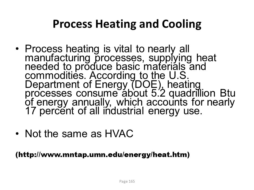 Process Heating and Cooling