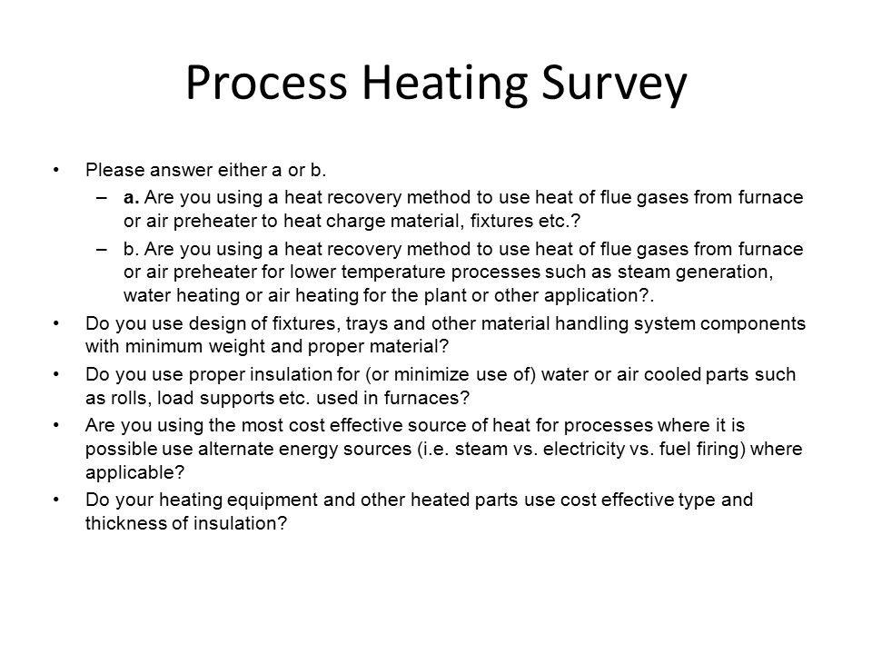 Process Heating Survey