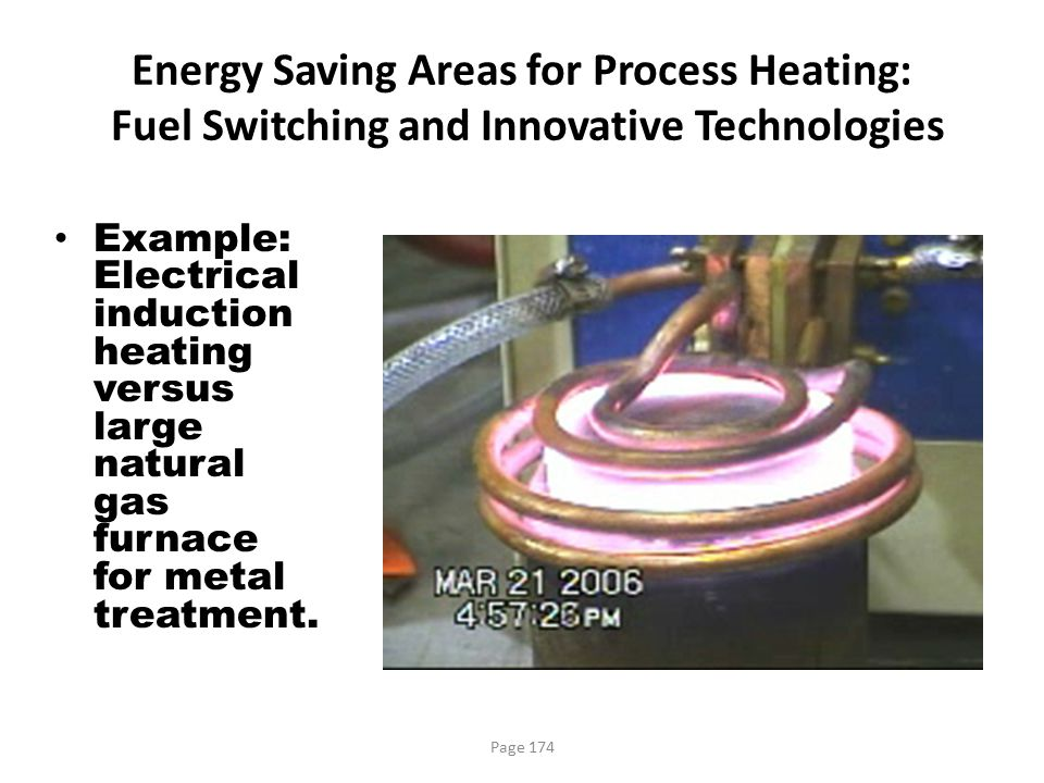 Energy Saving Areas for Process Heating: Fuel Switching and Innovative Technologies