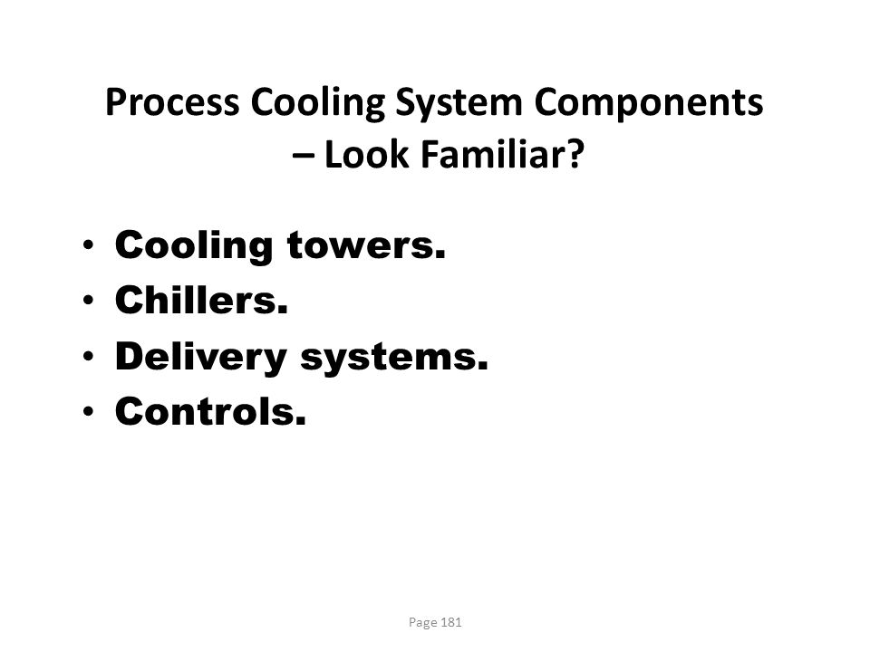 Process Cooling System Components