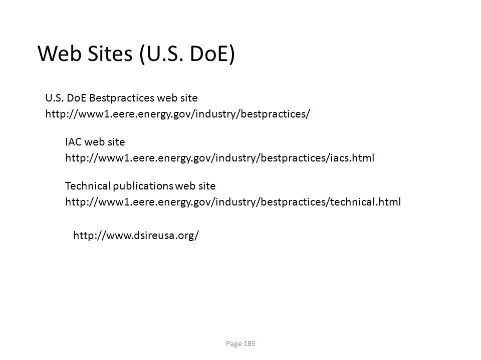Web Sites (U.S. DoE) U.S. DoE Bestpractices web site