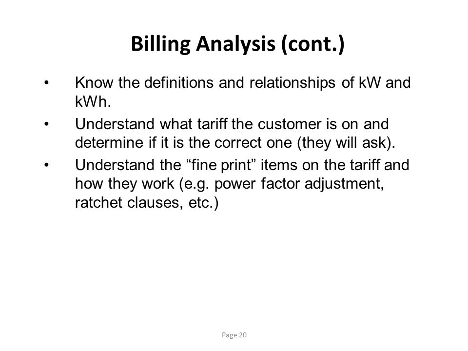 Billing Analysis (cont.)