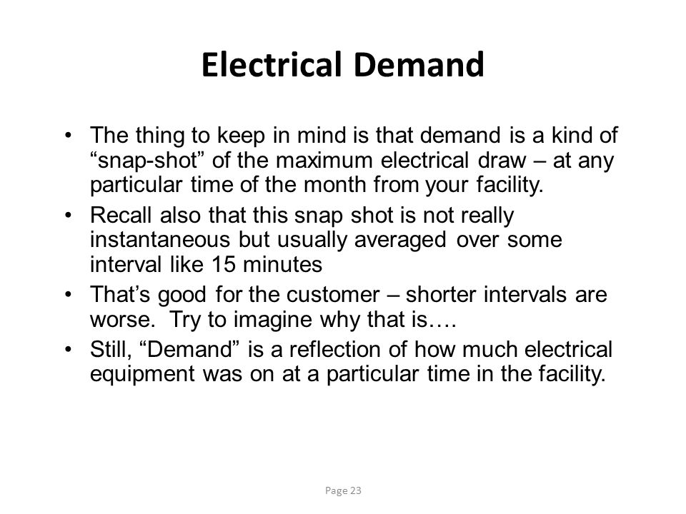 Electrical Demand
