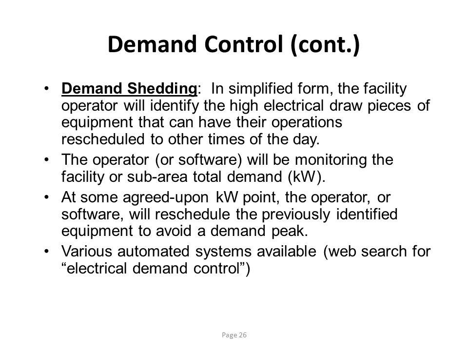 Demand Control (cont.)
