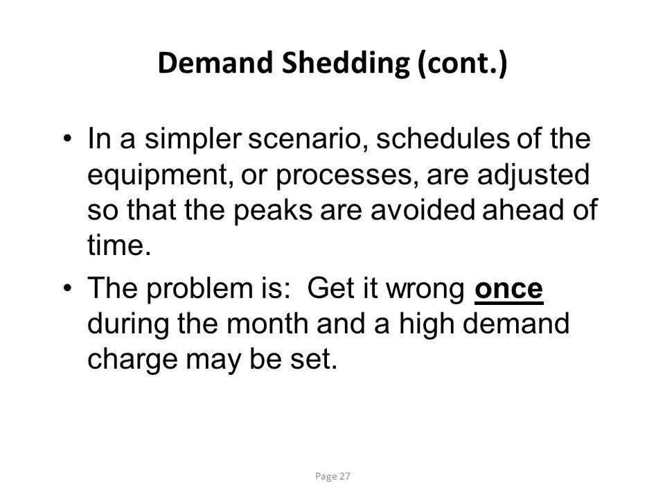 Demand Shedding (cont.)