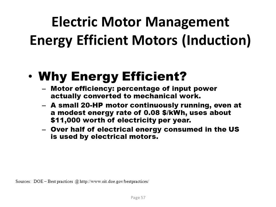 Electric Motor Management Energy Efficient Motors (Induction)