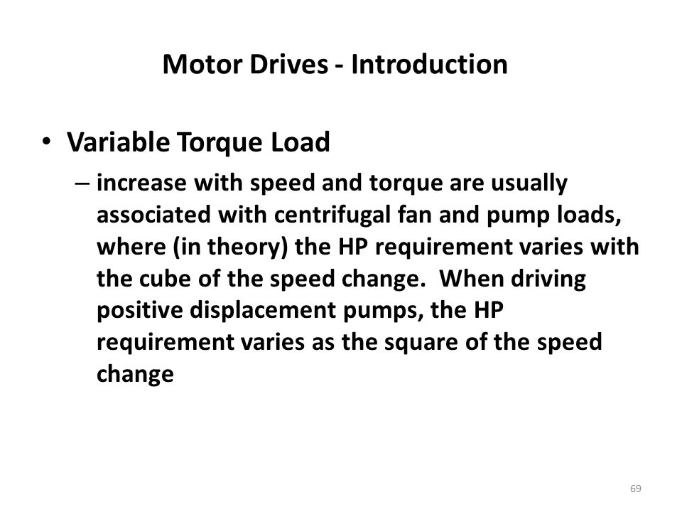 Motor Drives - Introduction