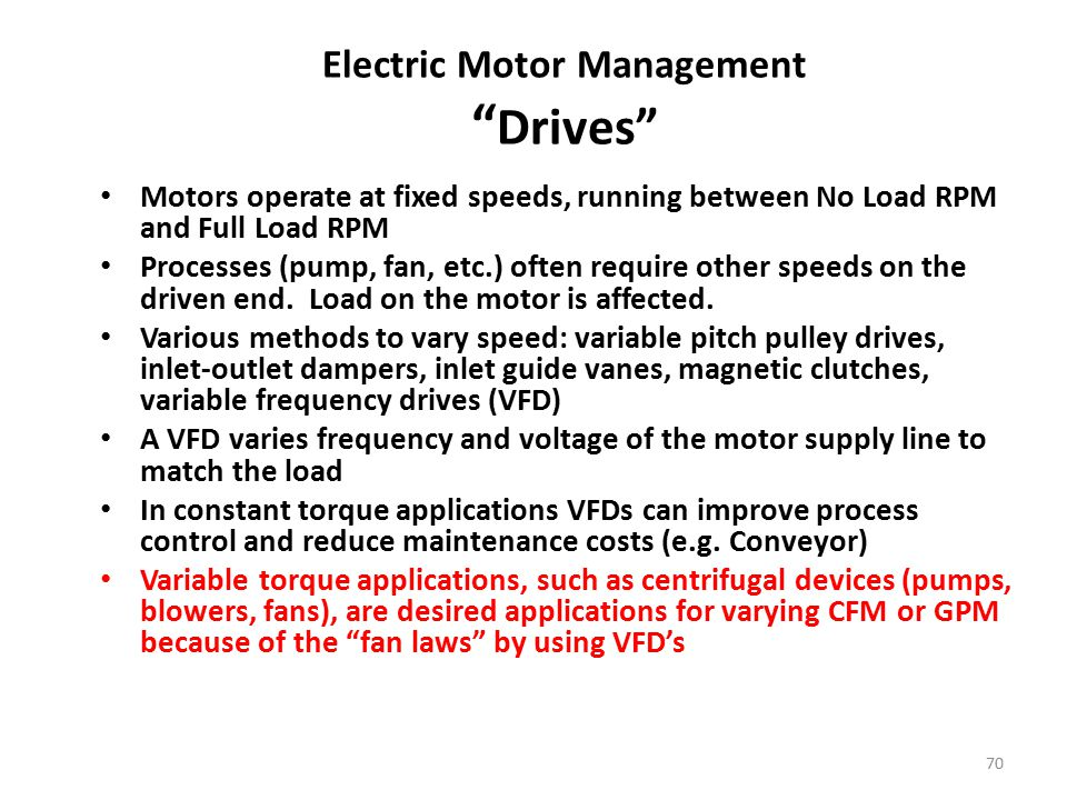 Electric Motor Management Drives