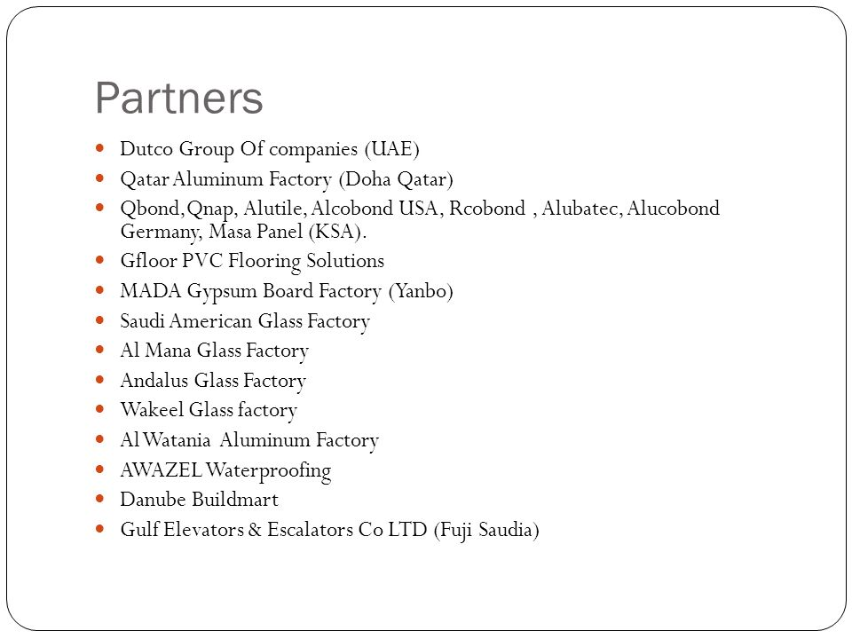 Partners Dutco Group Of companies (UAE)
