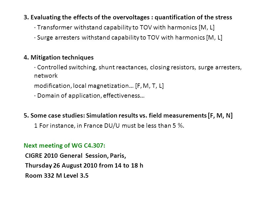 3. Evaluating the effects of the overvoltages : quantification of the stress