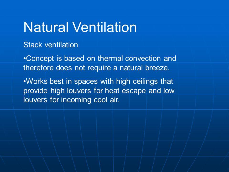 Natural Ventilation Stack ventilation