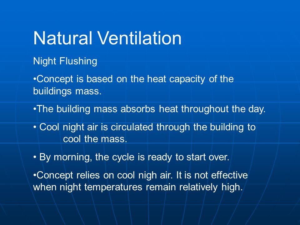 Natural Ventilation Night Flushing