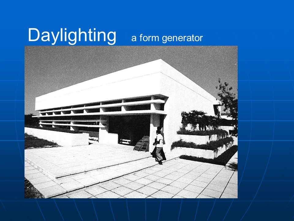 Daylighting a form generator