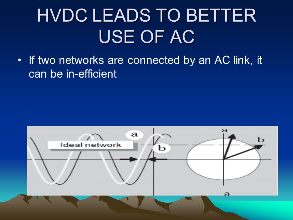 HVDC LEADS TO BETTER USE OF AC