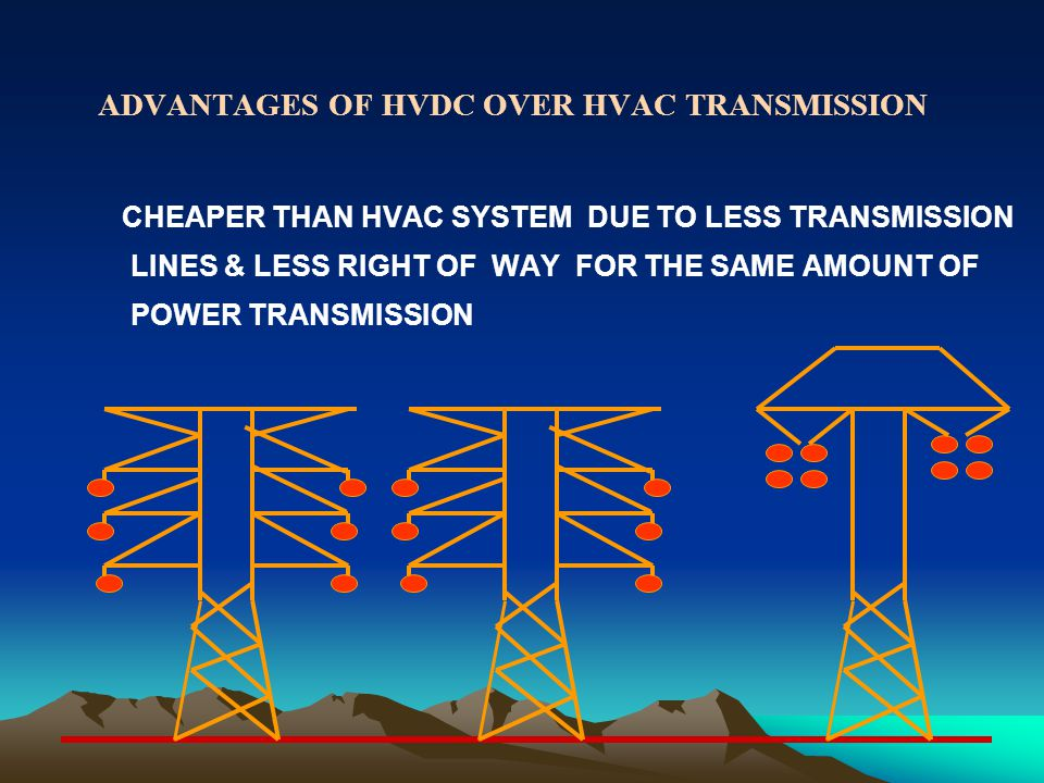 ADVANTAGES OF HVDC OVER HVAC TRANSMISSION
