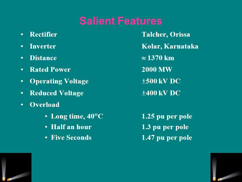 Salient Features Rectifier Talcher, Orissa Inverter Kolar, Karnataka