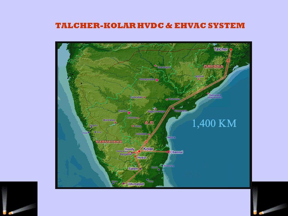 TALCHER-KOLAR HVDC & EHVAC SYSTEM