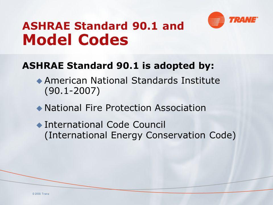 ASHRAE Standard 90.1 and Model Codes
