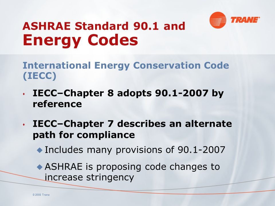 ASHRAE Standard 90.1 and Energy Codes
