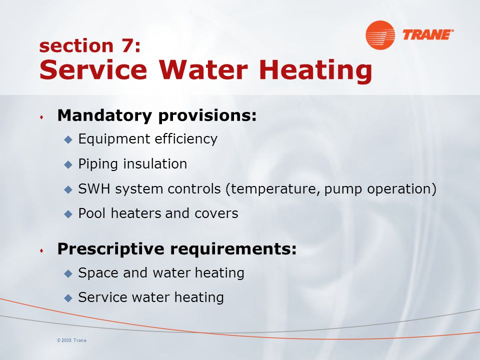 section 7: Service Water Heating
