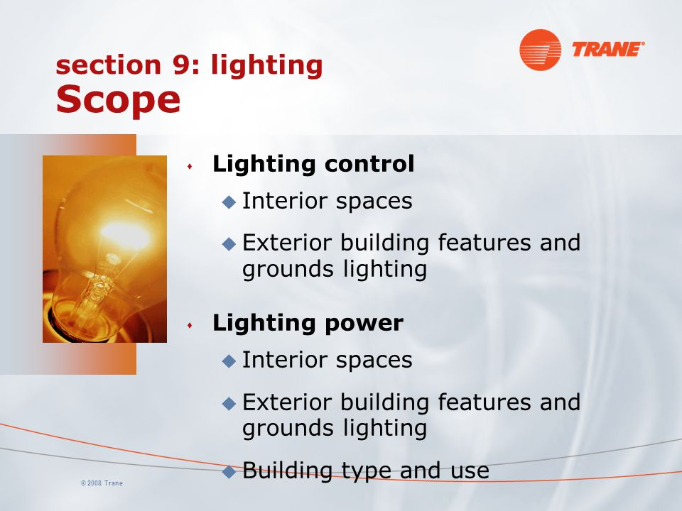 section 9: lighting Scope
