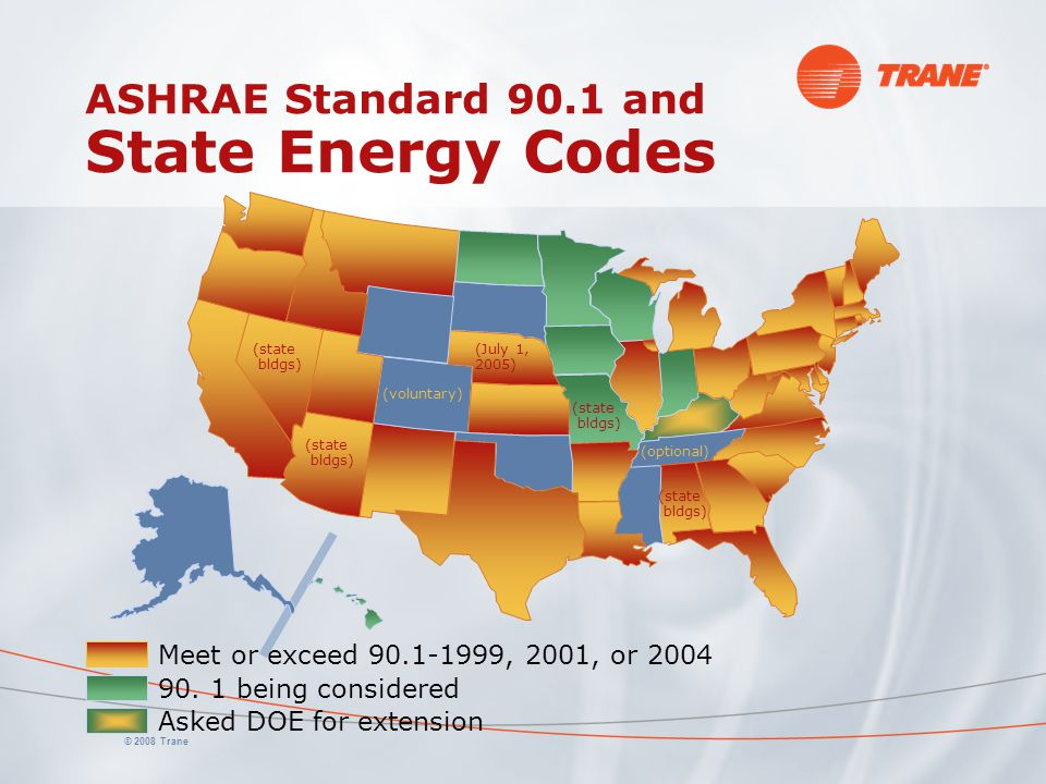 ASHRAE Standard 90.1 and State Energy Codes