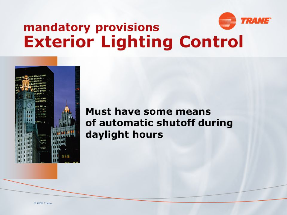 mandatory provisions Exterior Lighting Control