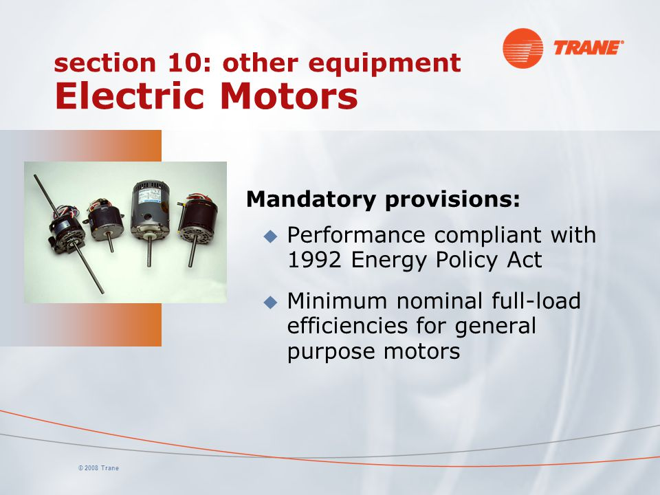 section 10: other equipment Electric Motors