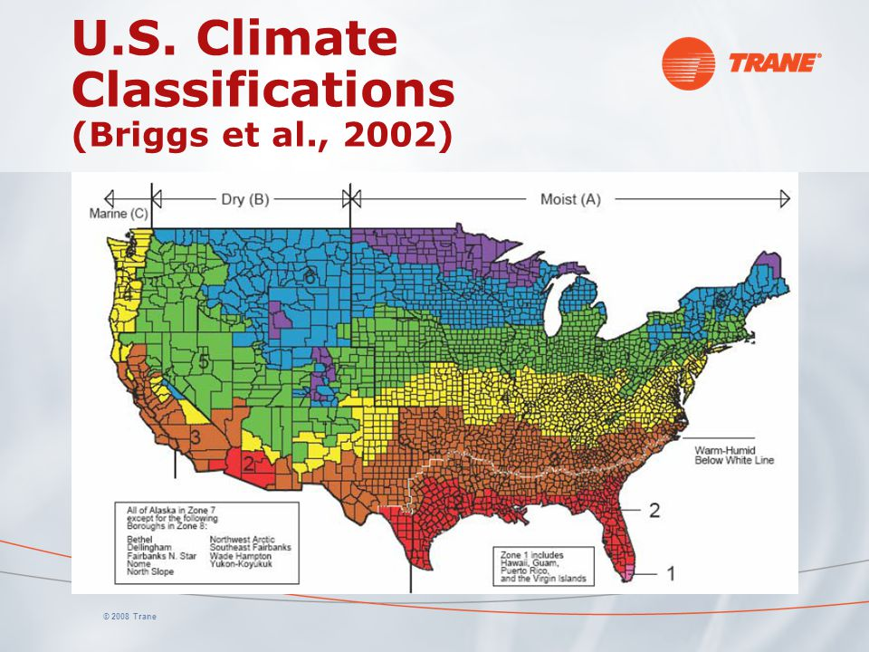 U.S. Climate Classifications (Briggs et al., 2002)