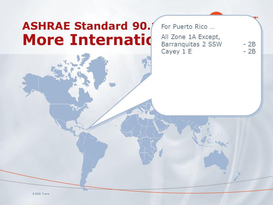 ASHRAE Standard 90.1 More International Data