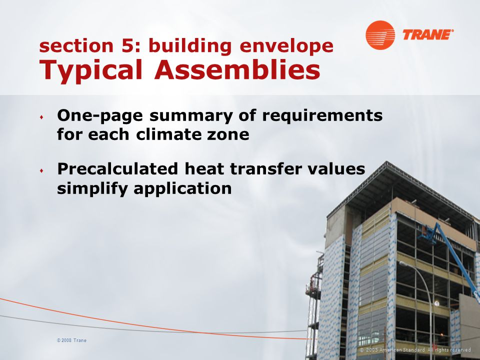 section 5: building envelope Typical Assemblies