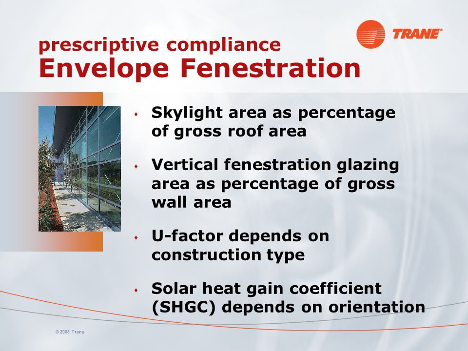 prescriptive compliance Envelope Fenestration
