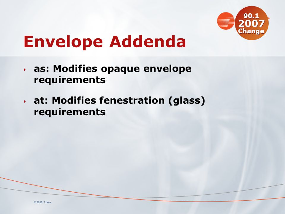Envelope Addenda as: Modifies opaque envelope requirements