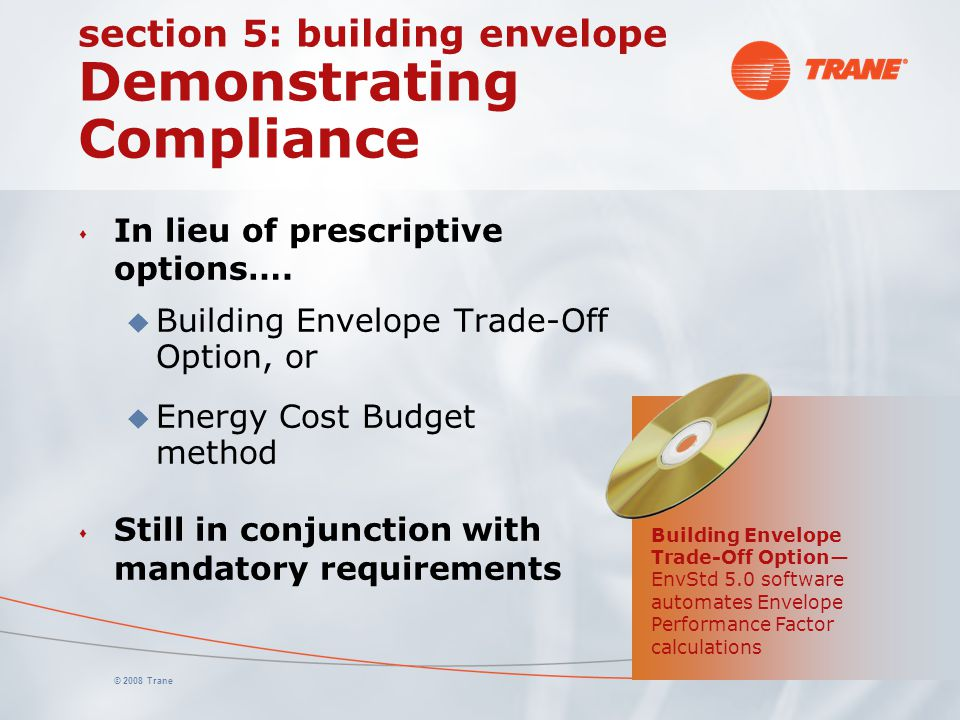 section 5: building envelope Demonstrating Compliance