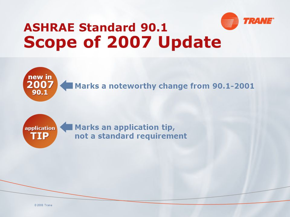 ASHRAE Standard 90.1 Scope of 2007 Update
