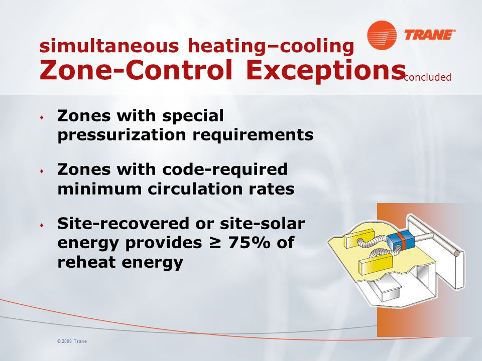 simultaneous heating–cooling Zone-Control Exceptions