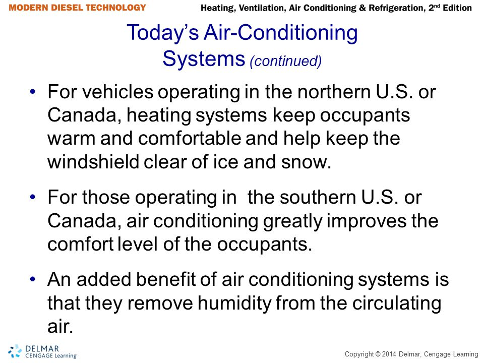 Today's Air-Conditioning Systems (continued)