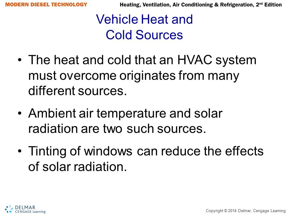 Vehicle Heat and Cold Sources