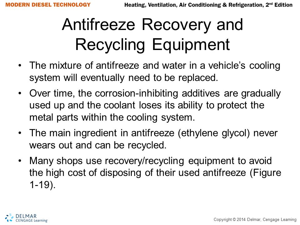 Antifreeze Recovery and Recycling Equipment