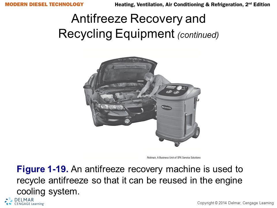 Antifreeze Recovery and Recycling Equipment (continued)