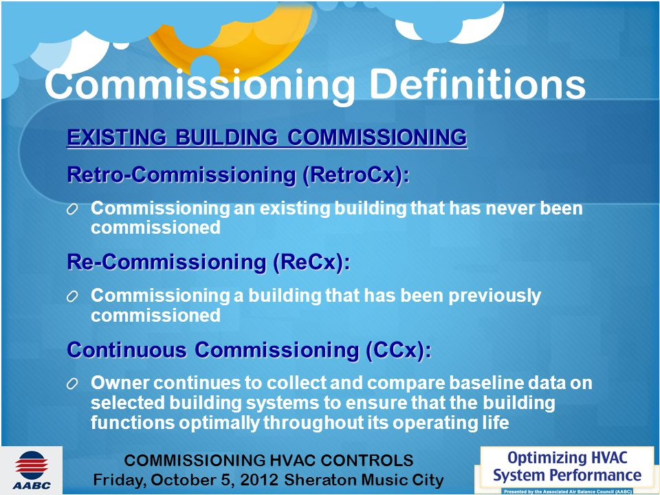 Commissioning Definitions