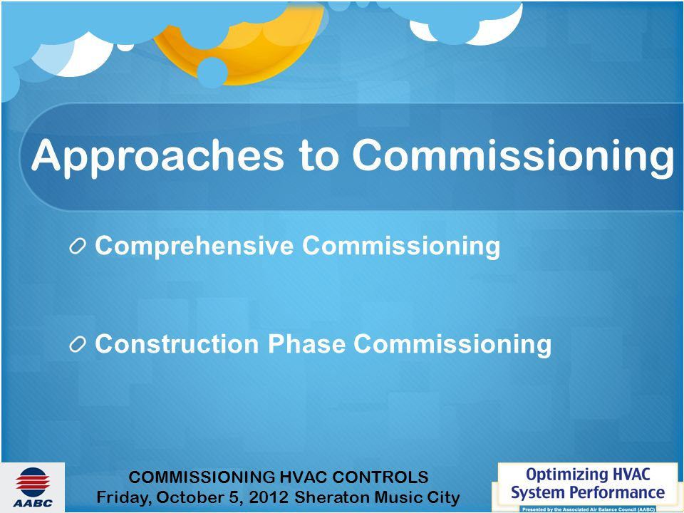 Approaches to Commissioning
