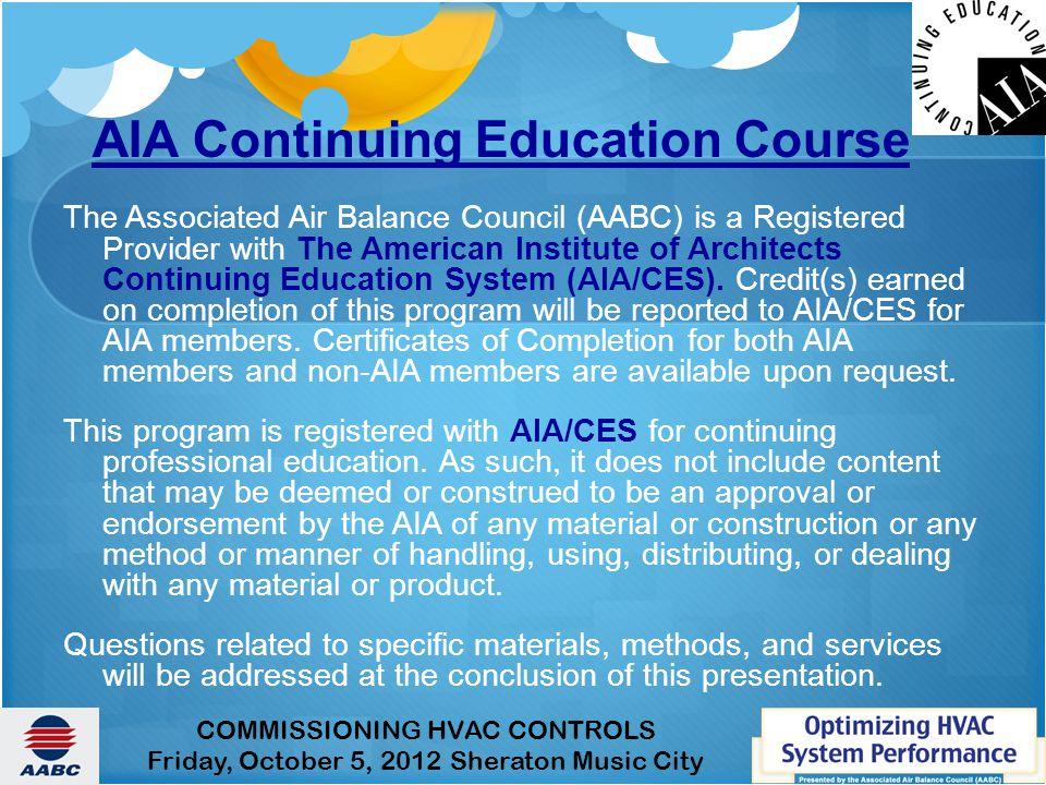 AIA Continuing Education Course