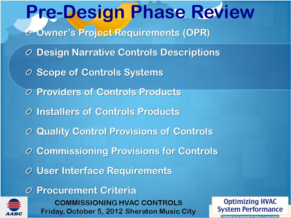 Pre-Design Phase Review