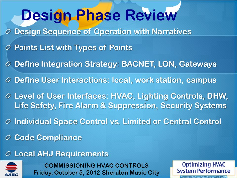 Design Phase Review Design Sequence of Operation with Narratives